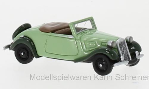 Citroen Traction Avant Cabriolet (1936) hellgrün/dunkelgrün in PC (87730)