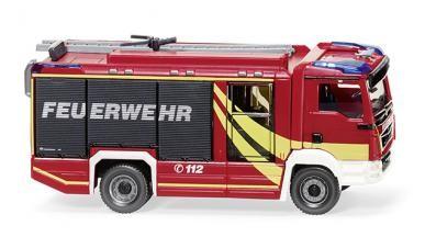 """Wiking MAN TGM Euro 6 """"Feuerwehr"""" Rosenbauer AT LF (061259)"""