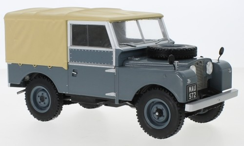 MCG Land Rover Series I (1957) dunkelgrau/matt-beige RHD Verdeck geschl. (18178)