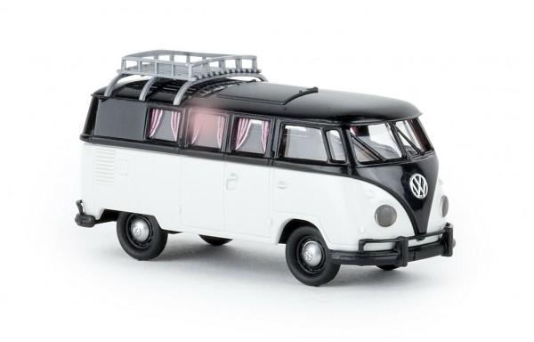 VW T1b Camper mit Dachklappe, schwarz/lichtgrau (31600)