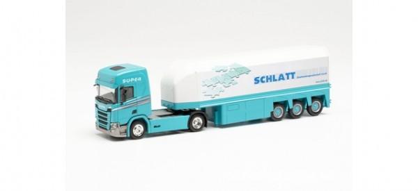 """Herpa: Scania CR Innenlader-Sattelzug """"Schlatt"""" (314428)"""