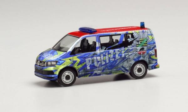 """Herpa: VW T6 Bus """"Polizei Sachsen-Anhalt Infomobil"""" (096348)"""