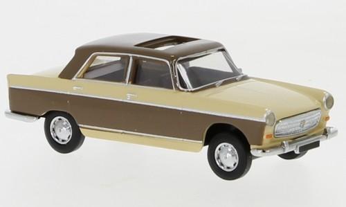 Brekina Peugeot 404 beige/hellbraun Schiebedach offen (29025)