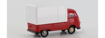 VW T1b Großraumkoffer, rot/weiß in TD (32450)