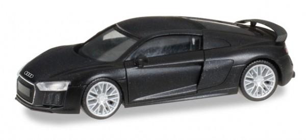 Herpa Audi R8 V10 Plus mattschwarz mit Chromfelgen (027717)