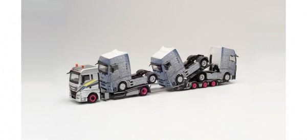 MAN TGX XLX Euro 6c LKW-Transporter-Hz. m. 3 getarnten MAN TGX GX Zugmaschinen (311984)
