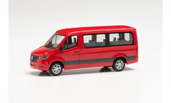 Herpa: MB Sprinter '18 Bus Flachdach feuerrot (096478)