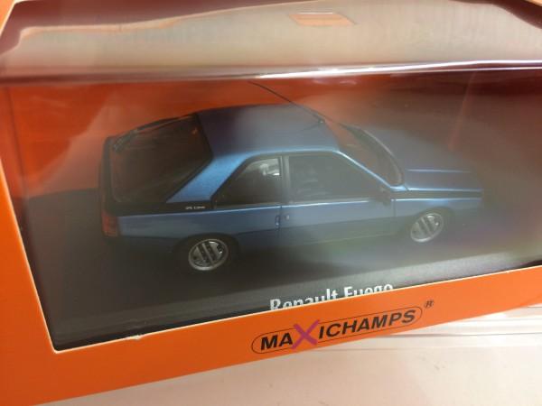 Maxichamps Renault Fuego (1984) blau-met. in PC (940113520)