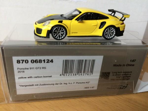 Porsche 911 GT2 RS (2018) gelb m.carbon bonnet (870068124)