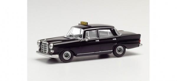 "Herpa Mercedes 200 Heckflosse ""Taxi"" schwarz (095686)"