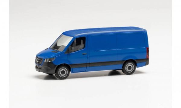 Herpa: MB Sprinter '18 Kasten Flachdach ultramarinblau (096485)